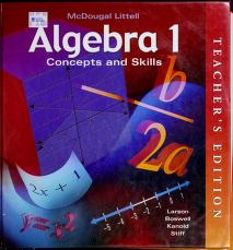 Cover of: Algebra 1   Ron Larson