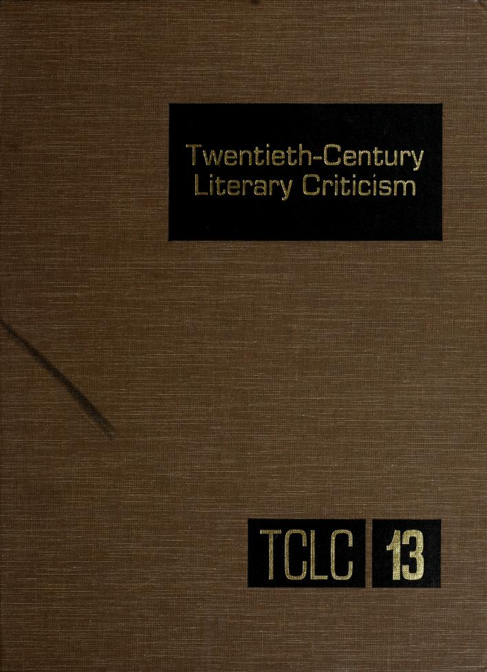 Twentieth-Century Literary Criticism (Twentieth Century Literary Criticism) by Dennis Poupard