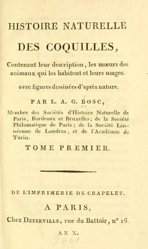 Download Histoire naturelle des coquilles