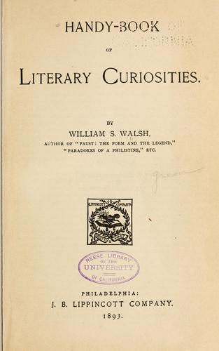 Handy-book of literary curiosities.