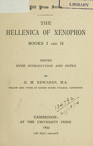 Hellenica, books I and II