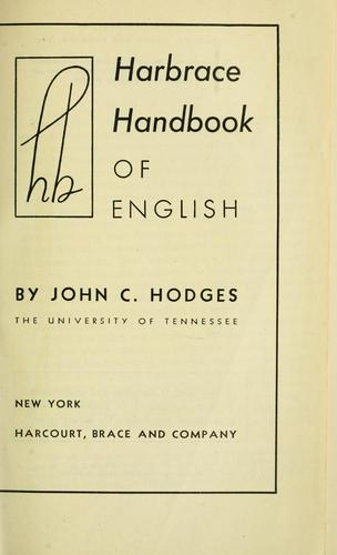 Harbrace handbook of English