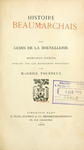 Download Histoire de Beaumarchais.