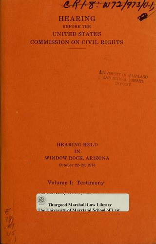 Download Hearing before the United States Commission on Civil Rights