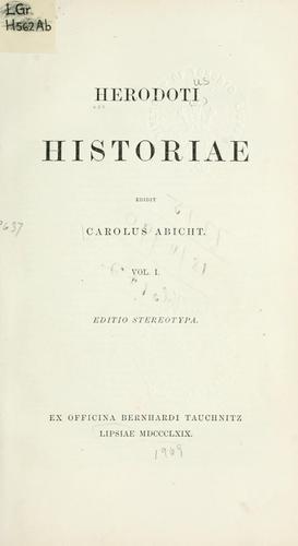 Herodoti Historiae.