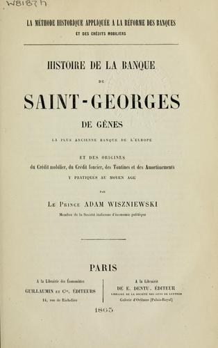Histoire de la Banque de Saint Georges de Gênes