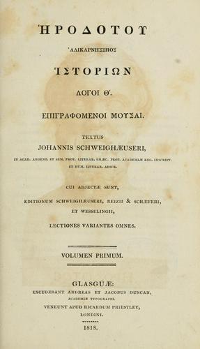 Historin logoi 9, epigraphomenoi Mousai.