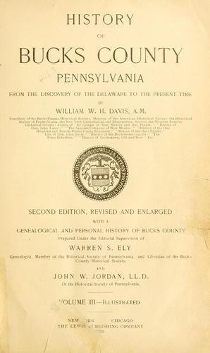 History of Bucks county, Pennsylvania