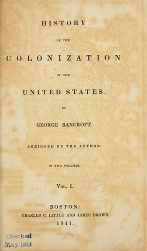 History of the colonization of the United States.