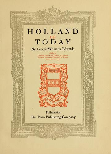 Holland of today