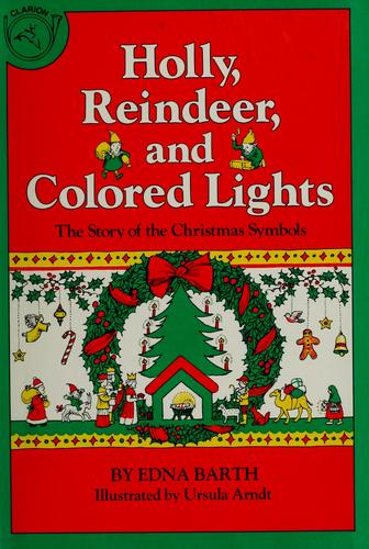 Download Holly, reindeer, and colored lights