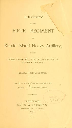 History of the Fifth Regiment of Rhode Island Heavy Artillery