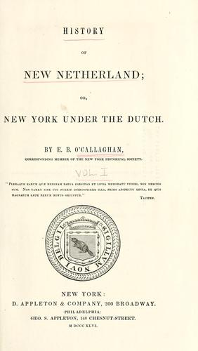 Download History of New Netherland