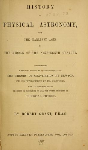 Download History of physical astronomy