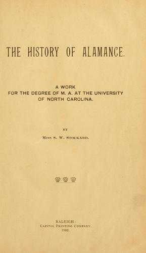 Download The history of Alamance