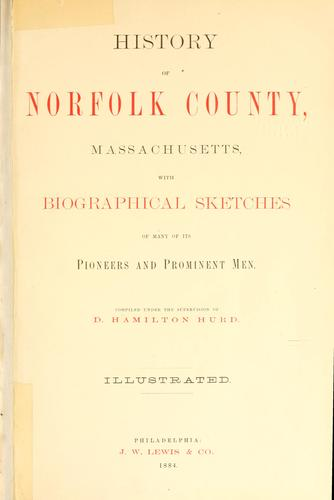 History of Norfolk County, Massachusetts