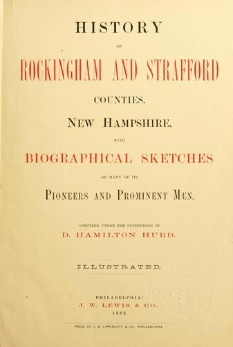 History of Rockingham and Strafford counties, New Hampshire