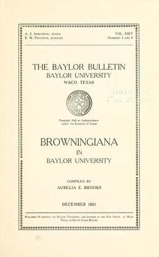 Download Browningiana in Baylor University