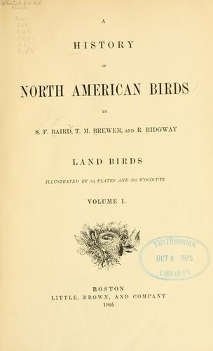 Download A history of North American birds