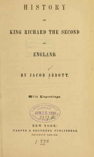 Download History of King Richard the Second of England.