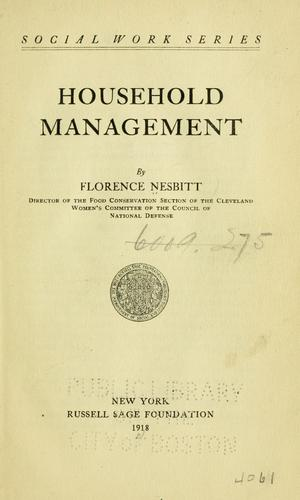 Download Household management.