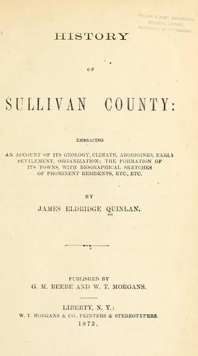 History of Sullivan county