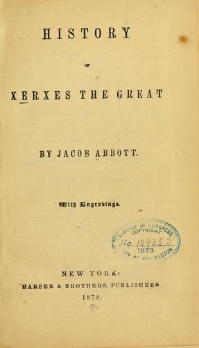 Download History of Xerxes the Great