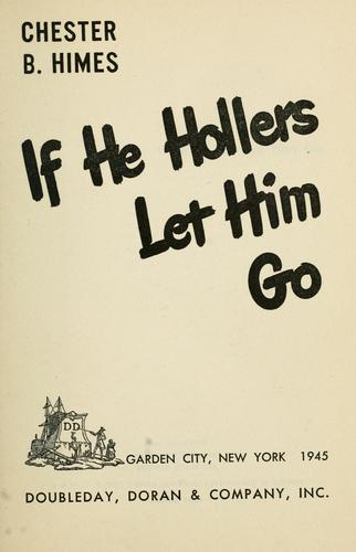 If he hollers let him go.