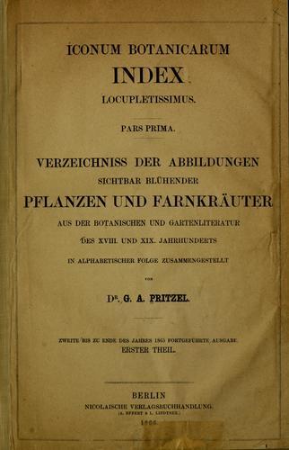 Download Iconum botanicarum index locupletissimus.
