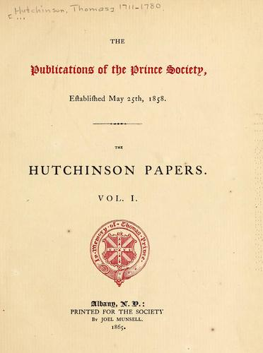 Download Hutchinson papers.