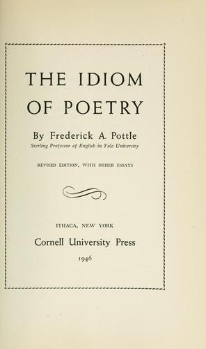 The idiom of poetry