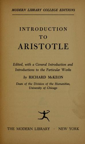 Download Introduction to Aristotle