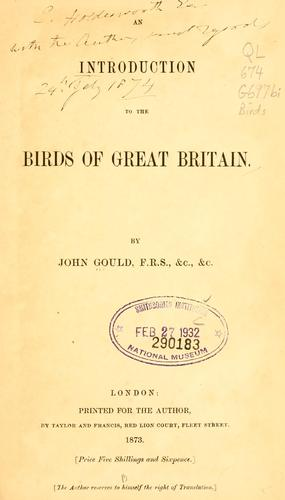An introduction to the birds of Great Britain