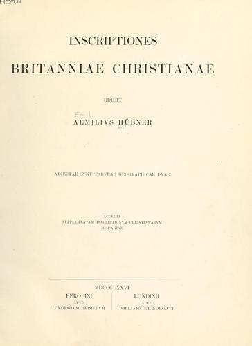 Download Inscriptiones Britanniae christianae