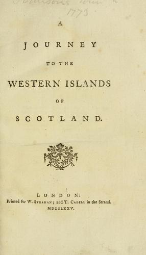 A journey to the western islands of Scotland..
