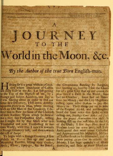A journey to the world in the moon, & c