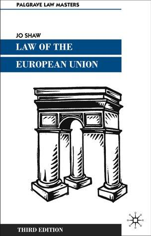 Law of the European Union (Palgrave Law Masters)