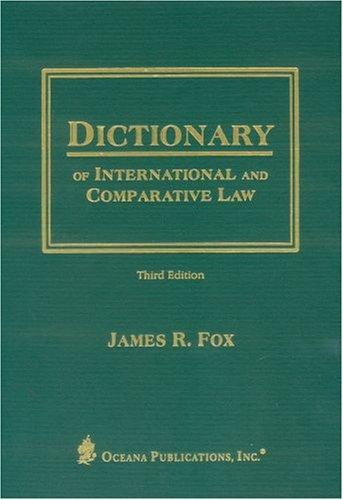 Download Dictionary of international and comparative law