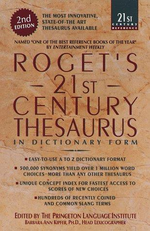 Download Roget's 21st century thesaurus in dictionary form