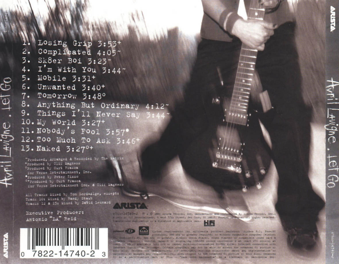 Avril Lavigne Let Go 2002 Album - Tomorrow - Wattpad