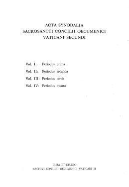 Cover of: Acta synodalia Sacrosancti Concilii Oecumenici Vaticani II. Volumen I: Periodus prima. Pars IV |
