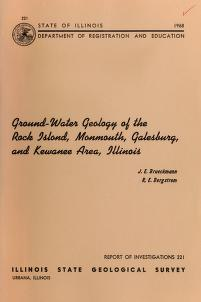 Cover of: Ground-water geology of the Rock Island, Monmouth, Galesburg, and Kewanee area, Illinois | John E. Brueckmann