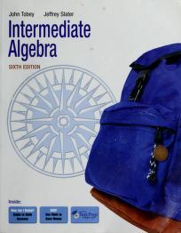 Cover of: Intermediate algebra   John Tobey