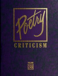 Cover of: Poetry Criticism | Elisabeth Gellert