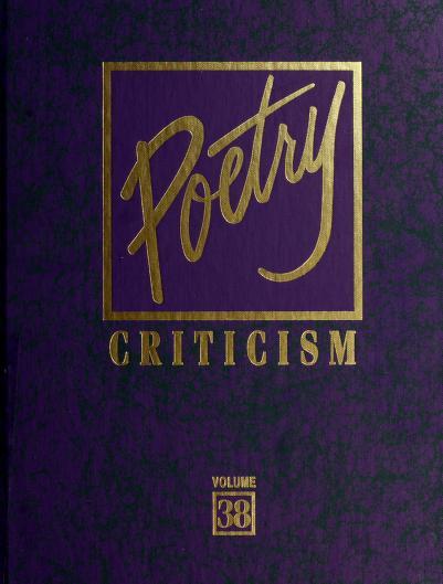 Poetry Criticism by Elisabeth Gellert