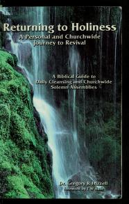 Cover of: A returning to Holiness | Frizzell, Gregory R. Ph.D.