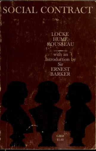 Cover of: Social contract | Ernest Barker