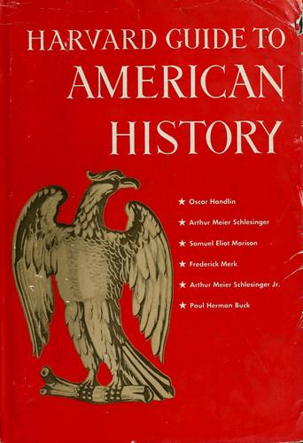 Harvard guide to American history