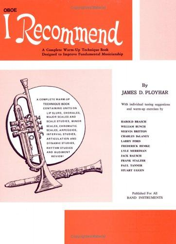 I Recommend (Oboe) by James Ployhar