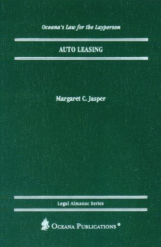 Auto Leasing (Oceana's Legal Almanac Series  Law for the Layperson) by Margaret Jasper